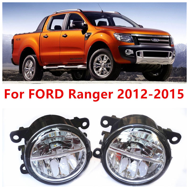 For FORD Ranger 2012-2015 Fog Lamps LED Car Styling 10W Yellow White 2016 new Lights for ford fiesta van box 2009 2015 fog lamps led car styling 10w yellow white 2016 new lights