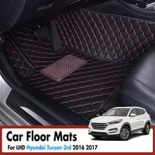 Автомобильные коврики для hyundai Tucson 3rd 2016 2017 водостойкие Нескользящие передние и задние 3D ковры Авто интерьерные аксессуары LHD
