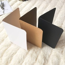 Buy christmas card blanks and get free shipping on aliexpress 10pcsset vintage kraft paper blank cards folded greeting card painting handmade diy cards blank m4hsunfo