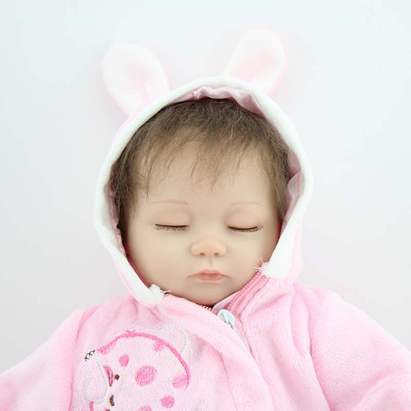 45 cm Silicone Reborn Baby Doll Lifelike  Newborn Baby girl Doll poupee Toy  Stuff Gift to Kid Child Baby Girl brinquedos 55cm silicone reborn baby doll toy lifelike npkcollection baby reborn doll newborn boys babies doll high end gift for girl kid