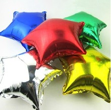 5s s 10inch Aluminum Foil Balloons ,Star balloons , Wedding /Party decoration LZ-238