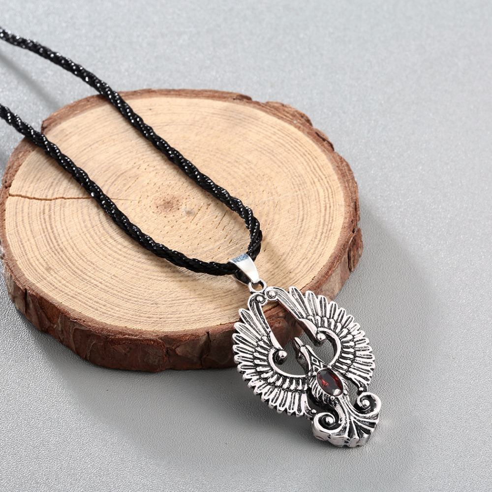 Chengxun cz angel wing necklace phoenix bird pendant red cz eagle chengxun cz angel wing necklace phoenix bird pendant red cz eagle necklace silver gold tone for men gift charm in pendant necklaces from jewelry mozeypictures Gallery