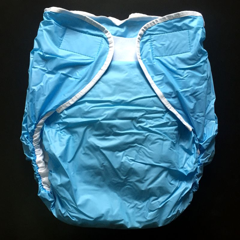 Free Shipping FUUBUU2016-Blue-L/XL free adult diapers pvc adult diaper cloth diaper adult incontinence pants for adults ABDL image