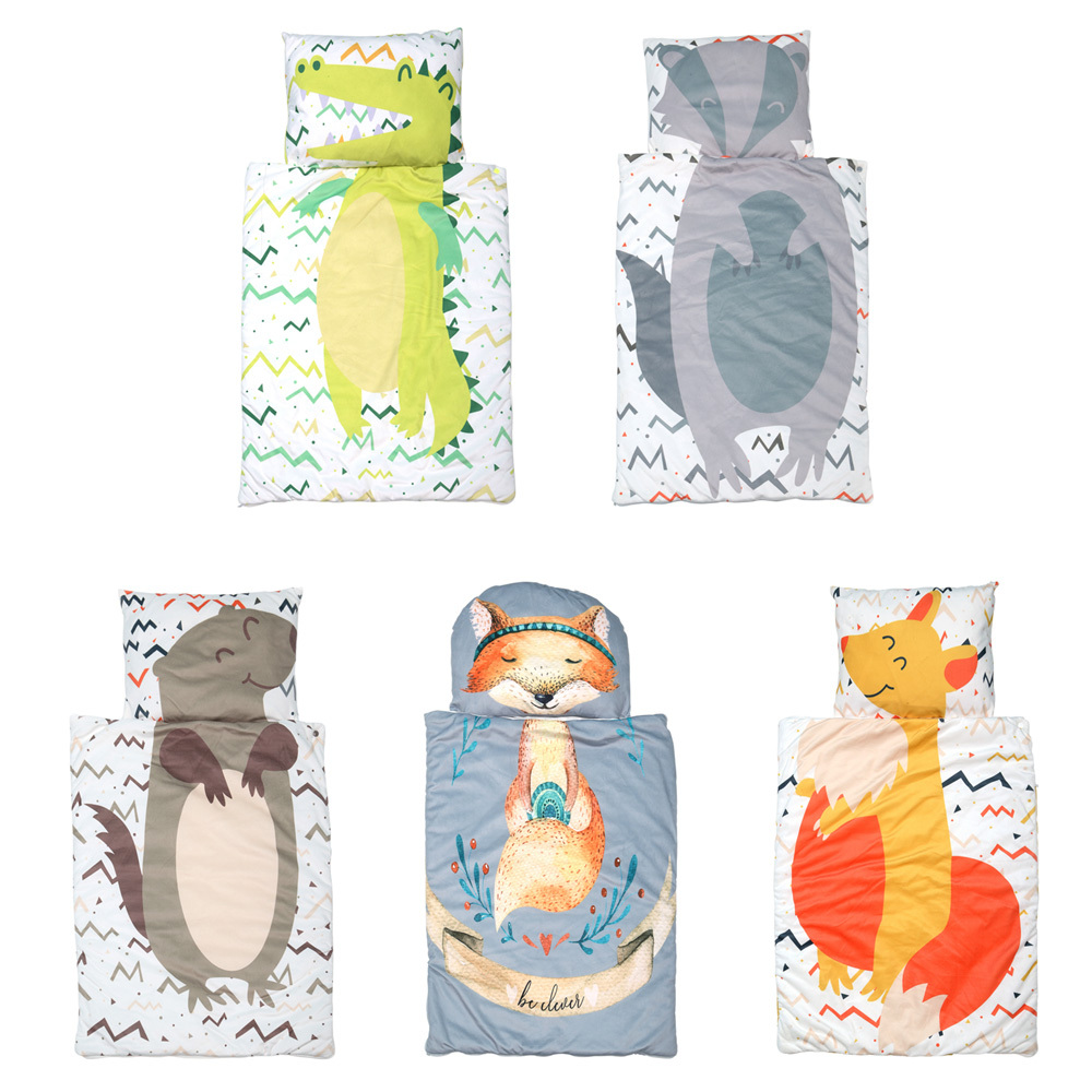 Newborn Baby Sleeping Bags Creative Bedding Separate Kids Infant Toddler Cartoon Sleep Bag Comfortable Warm Newborn Bed Wrap