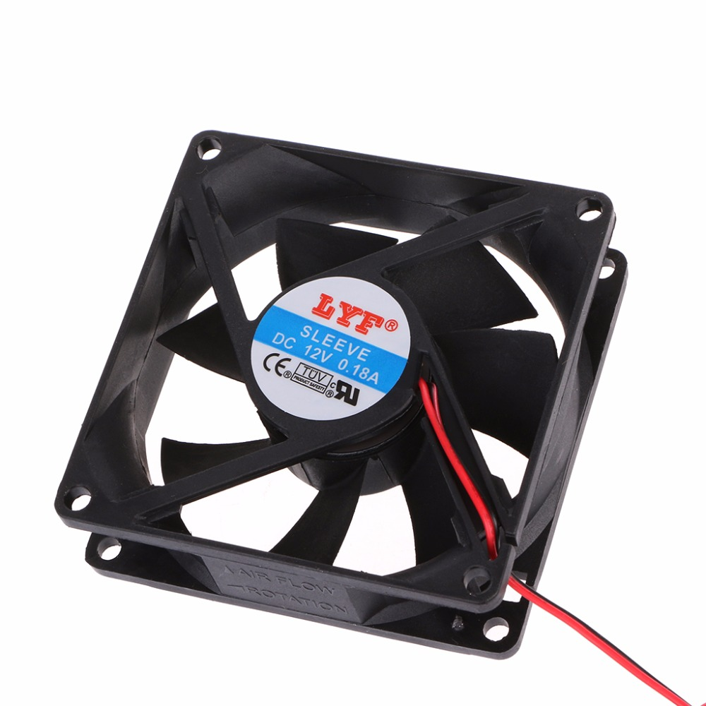 12V Cooler Fan for PC 2-Pin 80x80x25mm  Computer CPU System Heatsink Brushless Cooling Fan 8025 computer cooling