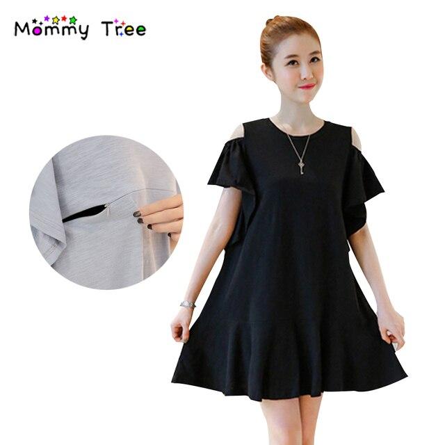 75a14d45719eb 2017 Summer Cute Mini Cotton Nursing Clothes Maternity Dress Casual  Pregnancy Clothing for Pregnant Women Breastfeeding Dress