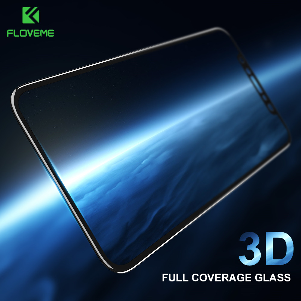 FLOVEME 3D Curved Tempered Glass For iPhone 6 6s Full Cover Screen Protector For iPhone 7 8 Plus X 10 Soft Edge Protective FilmFLOVEME 3D Curved Tempered Glass For iPhone 6 6s Full Cover Screen Protector For iPhone 7 8 Plus X 10 Soft Edge Protective Film