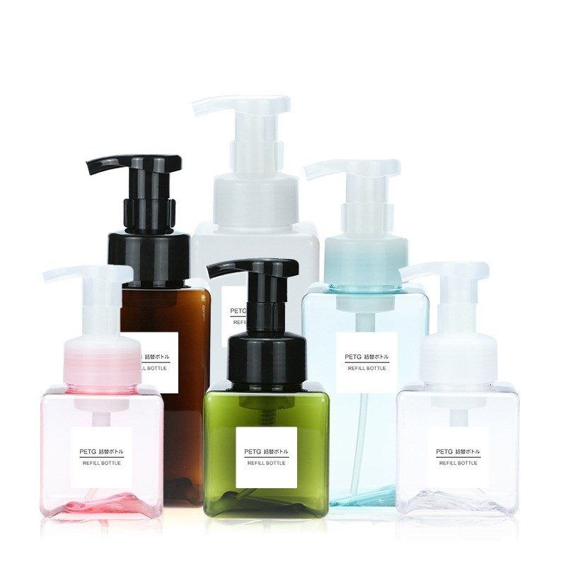 Liquid Soap Dispenser Press 250/450ml Bathroom Accessories PETG Detergent Shampoo Dispensers Double Hand Kitchen Soap Bottle
