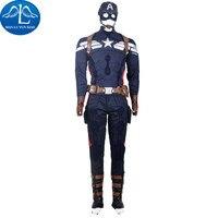 MANLUYUNXIAO Горячая Капитан Америка 2 костюм мужской наряд Хэллоуин Капитан Америка Косплей Костюм для мужчин на заказ