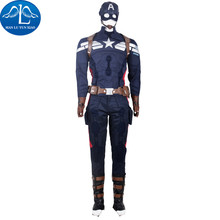 MANLUYUNXIAO Hot Captain America 2 Costume Men's Outfit Mens Suits Halloween Cosplay Costume For Men Custom Made