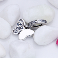 Aliexpress 100 925 Sterling Silver Cute Butterfly Beads Fit Original Pandora Charms Bracelet Authentic Luxury DIY