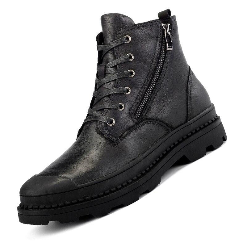 E Tornozelo Estilo Segurança brown Qualidade De Vintage À Trabalho Sapatos Botas Couro Natural Água black Outono Black Homens amp; Fur Inverno Prova No Fur Fur Ramialali YfUdxqY