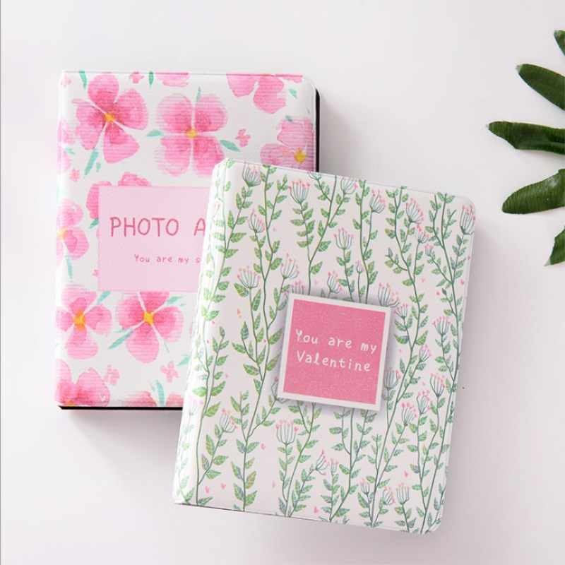 68 Pockets Mini Instant Polaroid Photo Album Picture Case Storage for Mini Film 7s 8 Korea Small Flower Mini Album