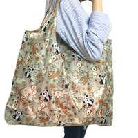 Reusable Foldable Shopping Bag Eco Floral Tote Handbag Convenient Storage Bags Large Capacity Portable Shoulder Bags