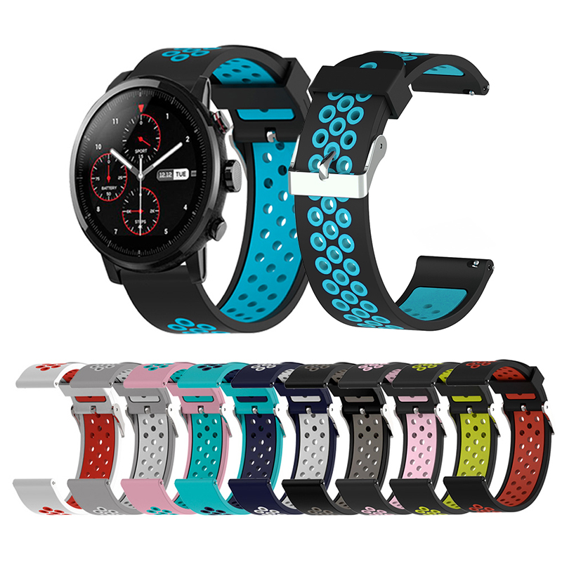 US $2 84 13% OFF|Quality 20mm Strap for Samsung Gear Sport S2 Classic  Huawei Ticwatch 2 Watch2 Pro Garmin Vivoactive3 Music Vivomove HR Strap  Hot-in