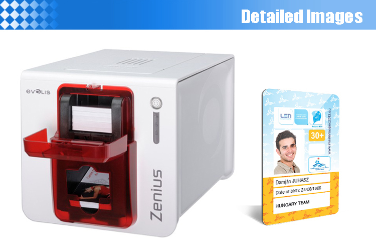 aliexpresscom buy ekarwelt evolis zenius single sided id card printer with ymcko ribbon r5f008s14 1pcs from reliable id card printer suppliers on - Cheap Id Card Printer