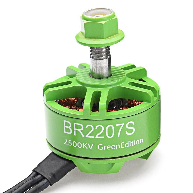 Racerstar 2207 BR2207S verde/rojo edición 1600KV 2200KV 2500KV 3-6 s Motor sin escobillas para modelos RC Multicopter marco DIY Accs