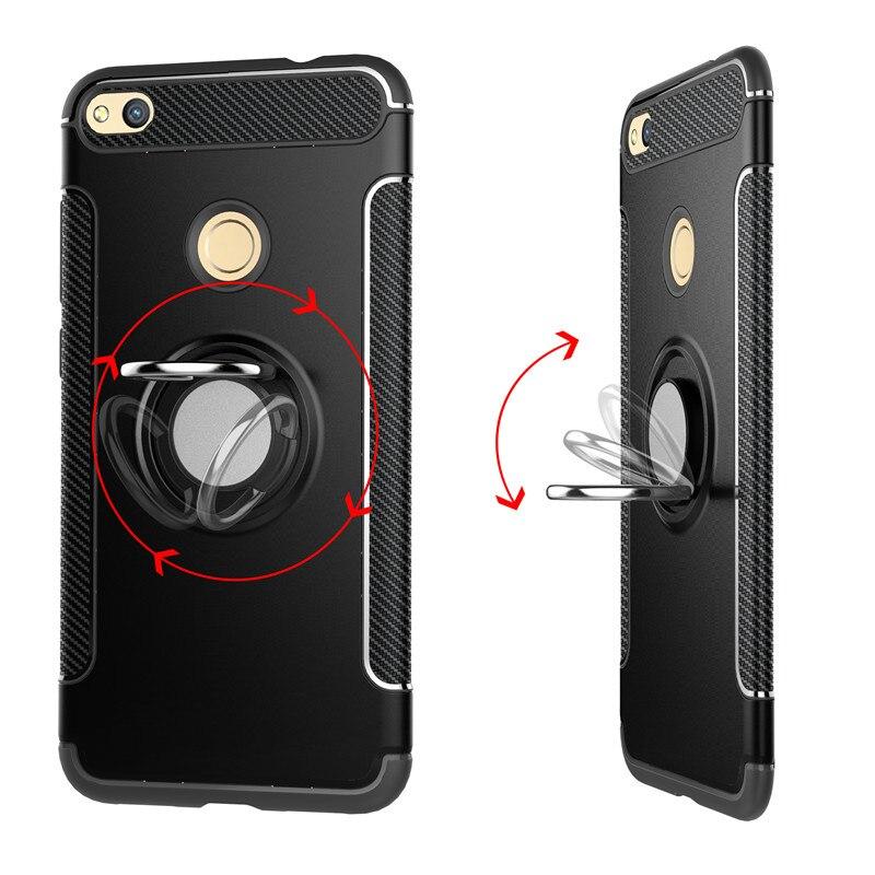Eachtek чехол для Huawei Honor 8 Lite крышка палец кольцо Магнит Автомобиля матовая защитная пленка для Huawei Honor 8 подножка телефон основа