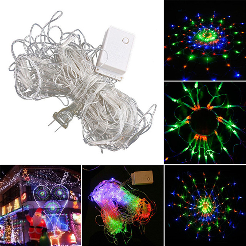 Hot 3 2m 200leds led waterproof colorful net mesh string for 160 net christmas decoration lights clear