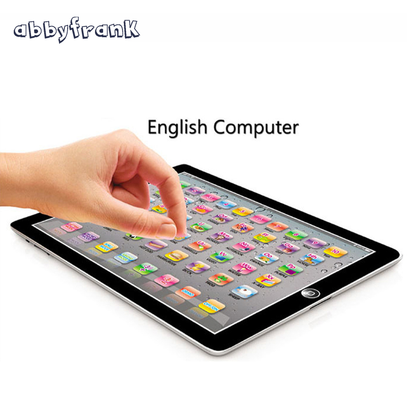 Abbyfrank Electronic Sounding Toy Change English Language Kid Laptop Children Vocal Education Toy for Baby  Gift For Kids