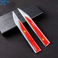 The Chinese National Flag China Flag Fender Side Car Door Side Metal Sticker Blade Emblem For