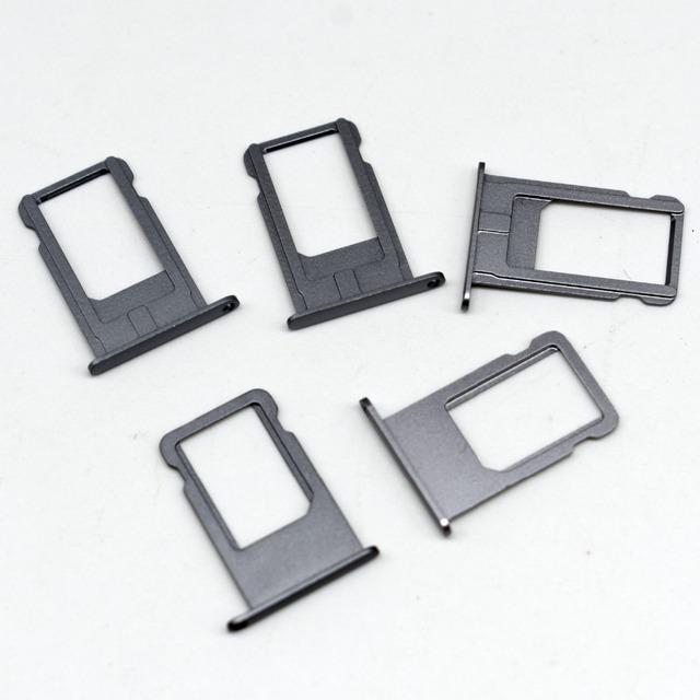 timeless design bc70f a0376 US $6.12 10% OFF|10pcs/lot High Quality Sim tray for iPhone 6 6G plus Sim  card holder tray replacement part Silver Gold Space Grey Color-in Mobile ...