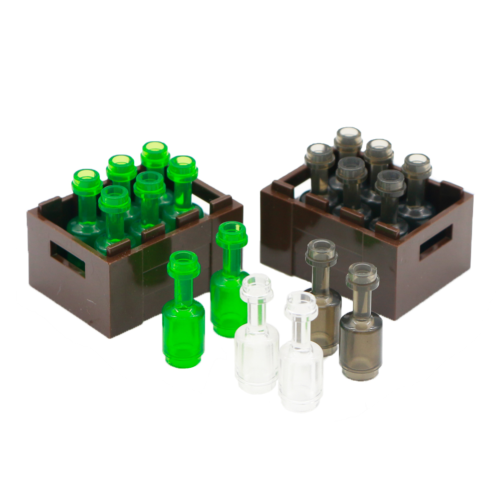 City Bottle Building Blocks Drinks Beer Beverage Wine Utensil Figure Accessories MOC Bricks Toys Compatible LegoINGlys Friends