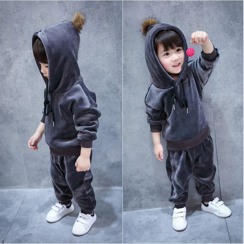Baby Boys Clothes Sets Children Girls Hooded Long Sleeve Jacket Coat Kids Casual Sport Suits Toddler Boys Tracksuit Clothing Set wiki uk ru