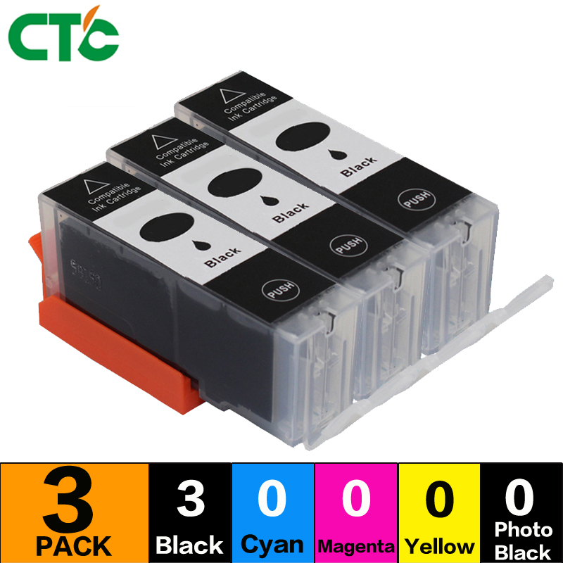 3BLACK PGI525 ink cartridges compatible For canon PIXMA IP4850 IP4950 IX6550 MG6220 MG61 ...