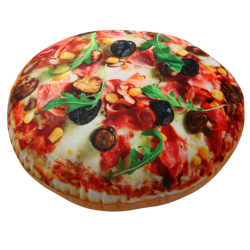 Table & Sofa Linens 2019 New Lifelike 3d Soft Pillow Plush Cushion Simulation Pizza Seat Cushion Decor Household Coussin Decoratif Oreiller Almohada