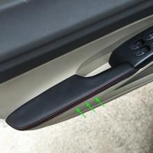Для Honda Civic 8th Gen 2006 2007 2008 2009 2010 2011 4 шт. двери автомобиля подлокотник Панель чехол из кожи на основе микроволокна с отделкой