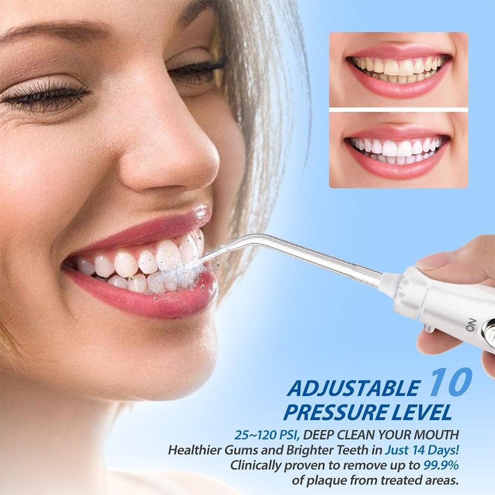Image 4 - VamsLuna Dental Flosser Oral Irrigator Dental Water Jet Teeth Care Cleaner Oral Hygiene Set 7 Nozzles 600ml Irrigation-in Oral Irrigators from Home Appliances