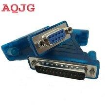 USB Com Кабель для последовательного соединения RS232, DB9 DB25, адаптер DB9, мама, DB25, папа, AQJG, оптовая продажа