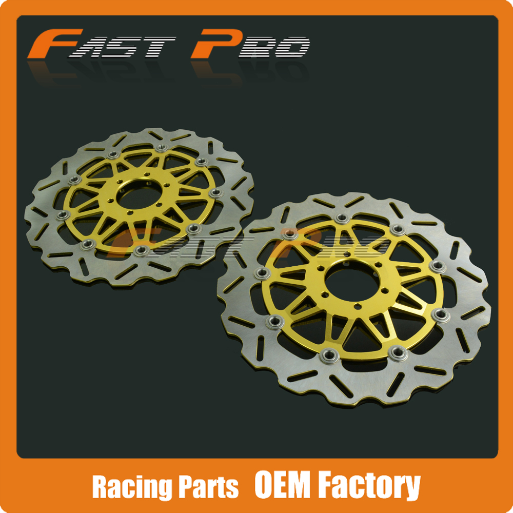 1 Pair Front Brake Disc Rotor For DUCATI JUNIOR SS 350 MONSTER 400 600 620 SUPERSPORT 400 600 750 MULTISTRADA 620 Sport 750 new rear brake disc rotor for ducati 750 monster 750 ss c 750 ss supersport i e 800 monster dark i e 800 sport 2003 2004 03 04