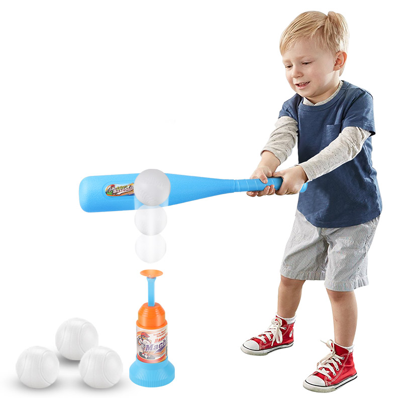 Kids Soft Safety Baseball Set Toys For Children Funny Sports Play Games Outdoor Toy Boy Crashproof Baseball Parent-child Games kid s arrows games toys hands and feet jumping outdoor play games school kindergarten sport equipment