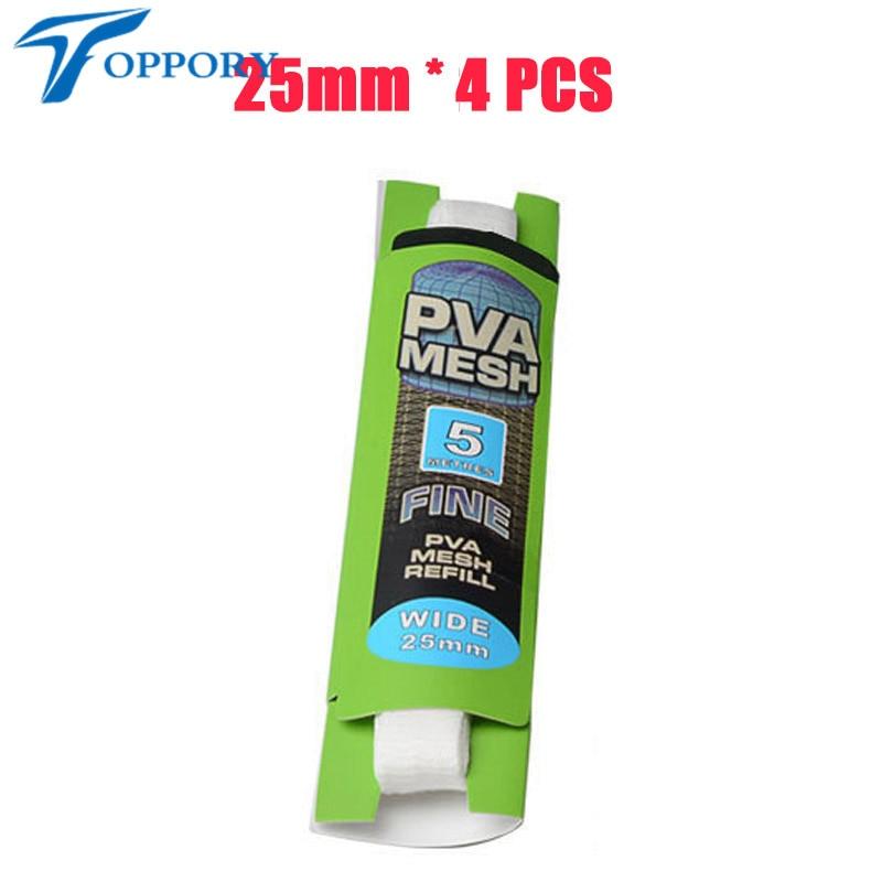 Topproy 4 paquetes / lote Malla de PVA de 5 M 25 mm 37 mm para carpas - Pescando - foto 3