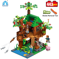 The Jungle Tree House My World Building Blocks Forest kits Bricks Toys For Kids gift 21125 Compatible all brand Minecrafteds