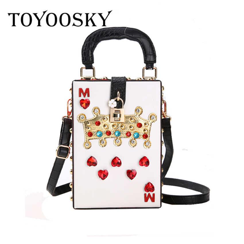 68e036e35d4 TOYOOSKY 2018 New Luxury Crossbody Bag Popular Women Diamonds Queen Purse  High Quality Shoulder Bags Evening