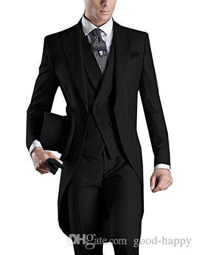Custom Design White/Black/Grey/Light Grey/Purple/Burgundy/Blue Tailcoat Men Party Groomsmen Suits in Wedding Tuxedos(Jacket+Pant