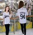 KPOP EXO PLANETA EXO'rDIUM Em Seul T-shirt Sehun Baekhyun Chanyeol Tshirt Tee