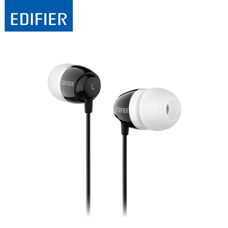 Edifier H210 Fone de ouvido Noise-isolar fone de Ouvido Baixo Fones De Ouvido de ALTA FIDELIDADE de Som Mais Claro 3.5 milímetros Aux para iphone xiaomi huawei Tablet