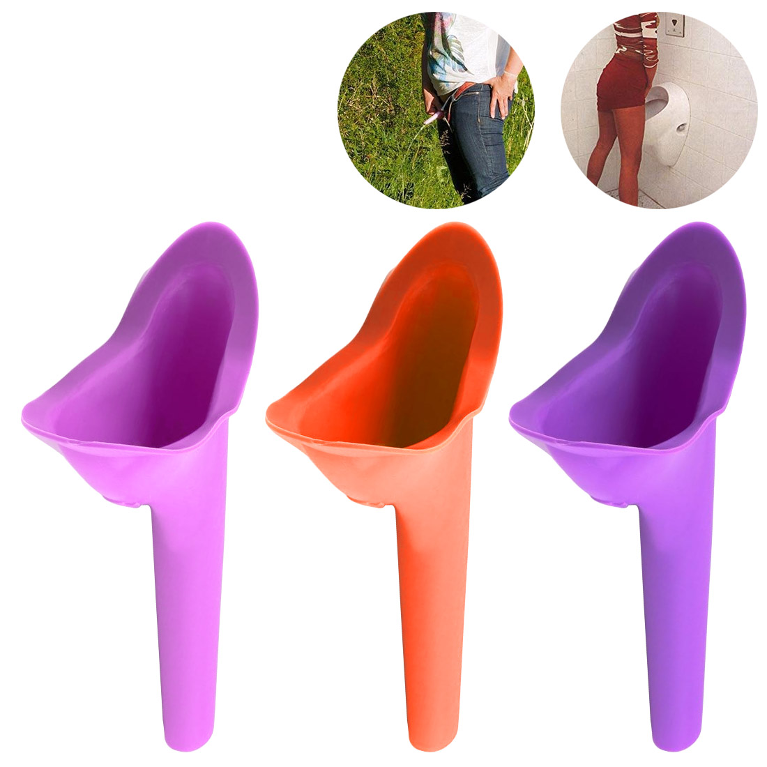 Women Camping Urination Device Soft Slicone Funnel Urinal Female Travel Urination Toilet Women Stand Up Pee Urinal Toilet