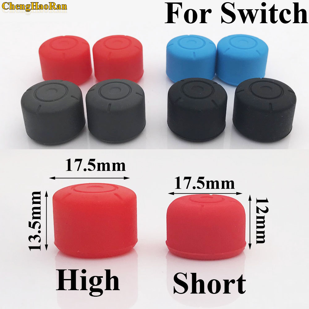 2pcs High Short Soft Silicone Stick cap Grip Cap Case Cover for Left Right Nintend Switch Joy Con NS NX Console Controller in Replacement Parts Accessories from Consumer Electronics