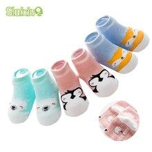 3Pcs/Lot SLAIXIU Cotton Animal Newborns Baby Infant Socks for Girls Boys Non-Slip Socks for Birthday Gifts Clothing Toddler 0-3T