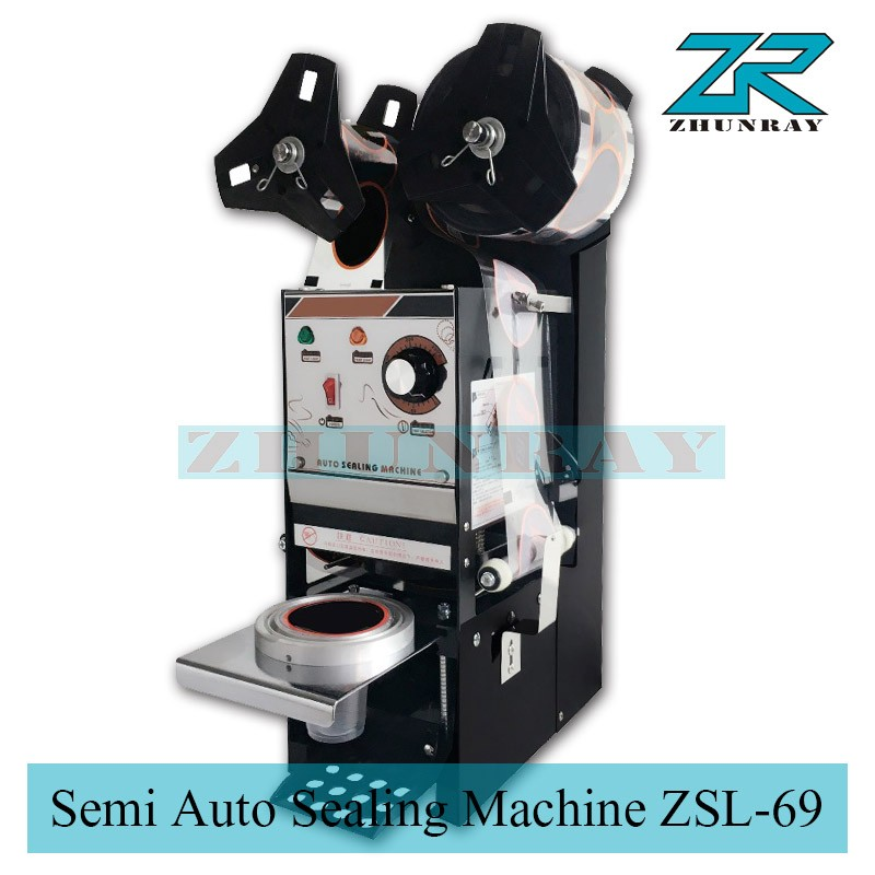 Semi Automatic Cup Sealer(cup sealing machine)ZSL-69 without film semi automatic manual plastic cup liquid container sealer 220v boba bubble tea juice drink film coverllid sealing machine