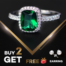 PANSYSEN 6 Colors Real Sterling Silver 925 Jewelry Emerald G