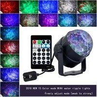 9 W RGBW 15 kolorów LED wody fala tętnienia efekt etap projektor świetlny laserowy światło boże narodzenie Disco Event Party Aurora światła laserowego w Oświetlenie sceniczne od Lampy i oświetlenie na