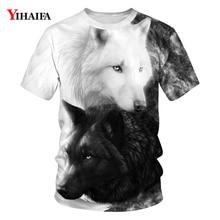 Wolf 3D Print Animal Personality T-Shirts Harajuku Men Short Sleeve Summer Tops Hipster Womens Mens T Shirt Tops 2019 wolf printed 3d t shirts men t shirts new design tops tees men women short sleeve shirt summer harajuku wolf animal xxxxl