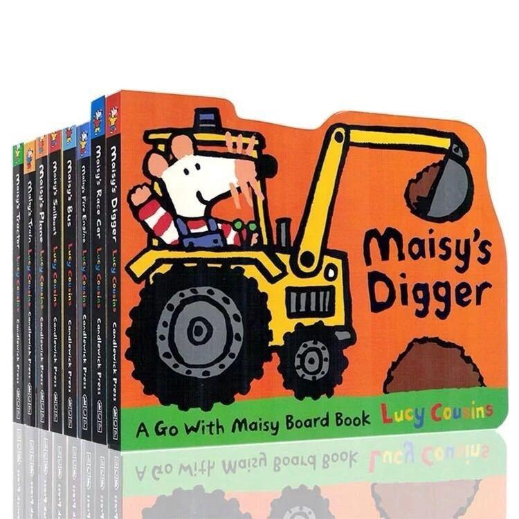 8 livres Maisy série enfants éducatif anglais image histoire bébé conseil carte livre ensemble à colorier livres pour enfants