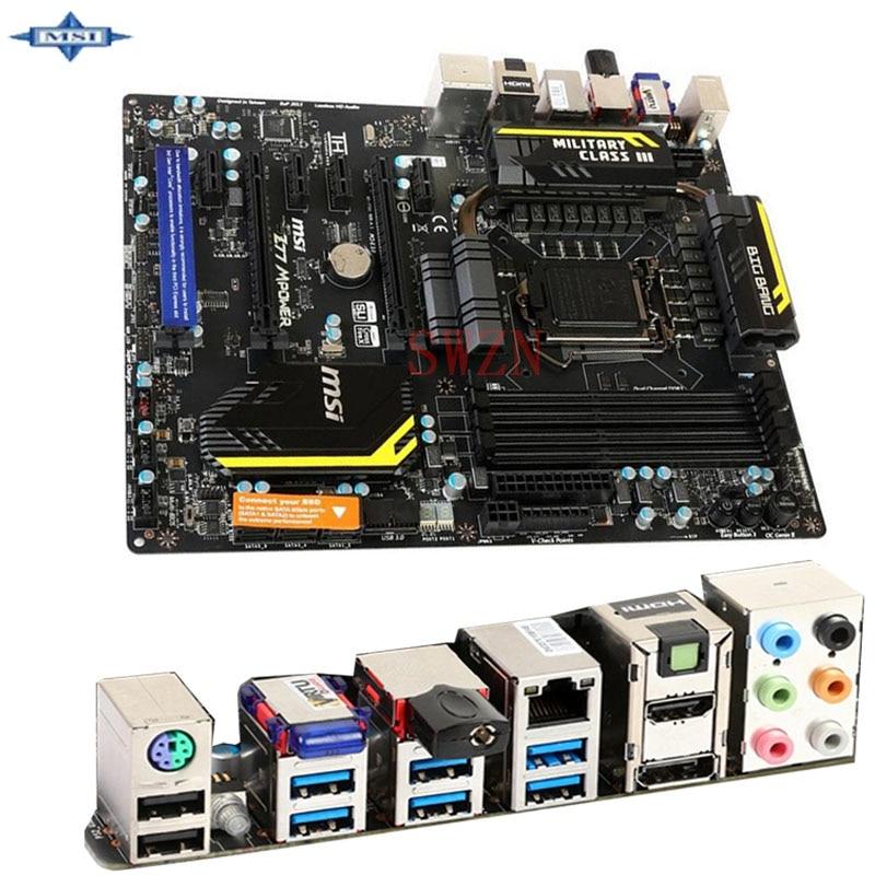 original Used Desktop motherboard For msi Z77 MPower Z77 support LGA 1155 4*DDR3 support 32G 4*SATA2 USB2.0 ATX motherboard mainboard for msi x99s mpower lga 2011 3 ddr4 128gb usb2 0 usb3 0 atx board